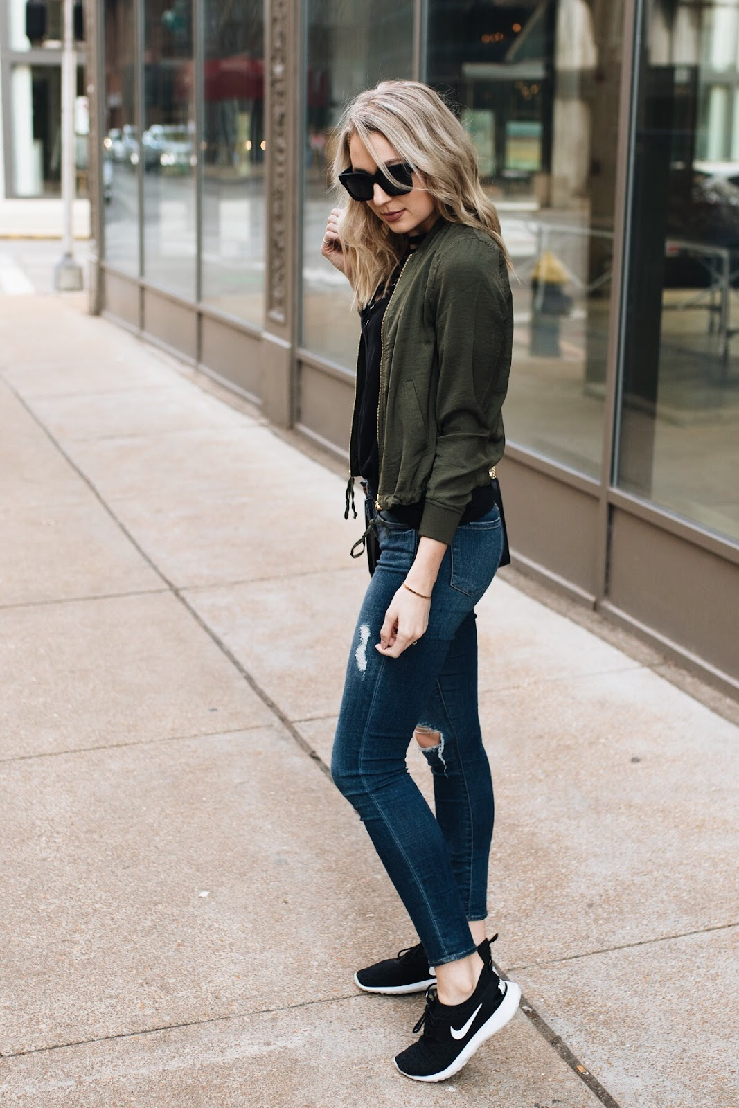 Casual weekend outfit with Nike sneakers