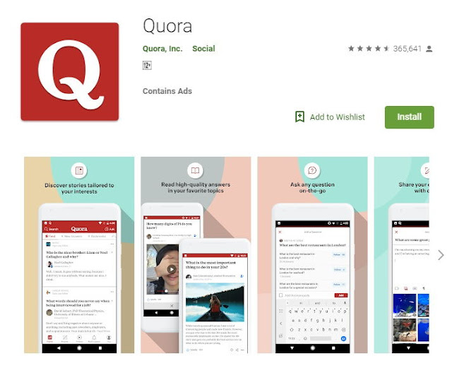 Quora Android Apps For Bloggers on Google Play