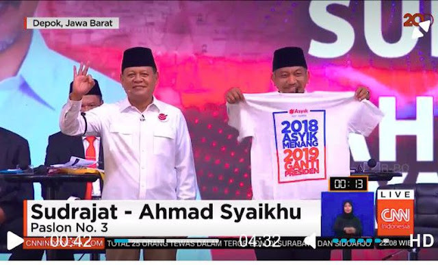 Soal '2019 Ganti Presiden', Bawaslu: Sudrajat-Syaikhu Melanggar