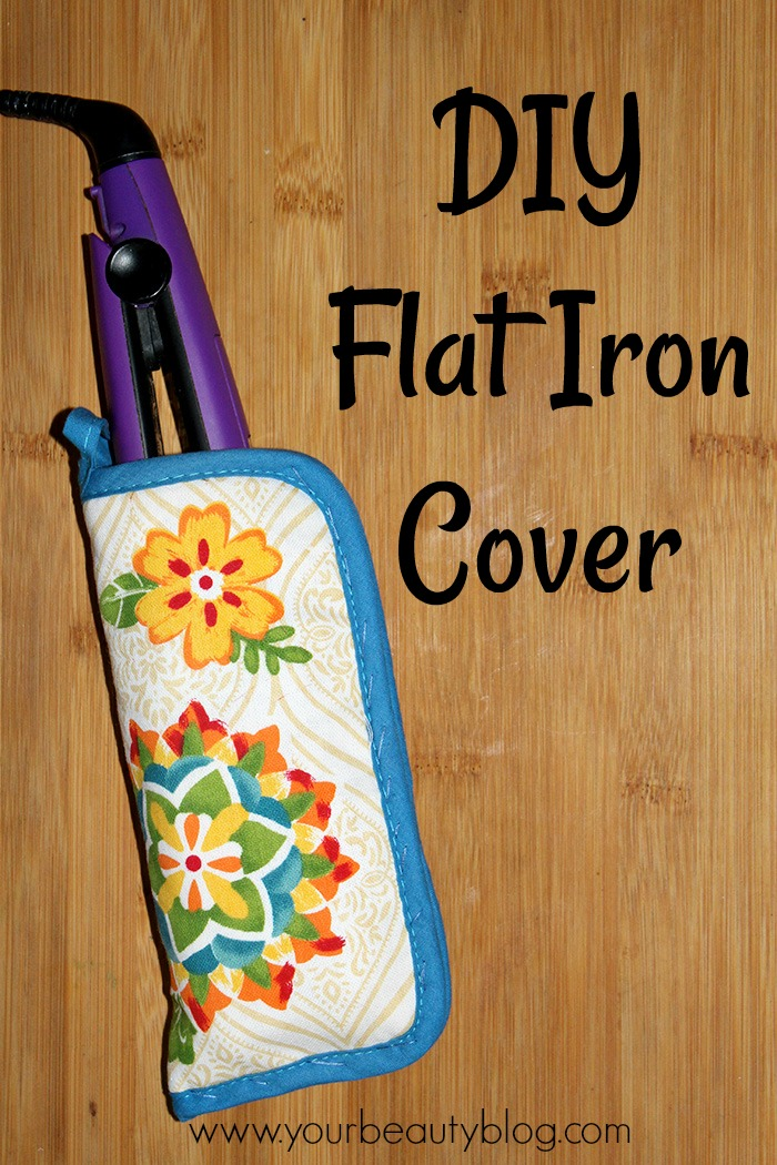 DIY Flat Iron Cover From a Dollar Store Hot Pad