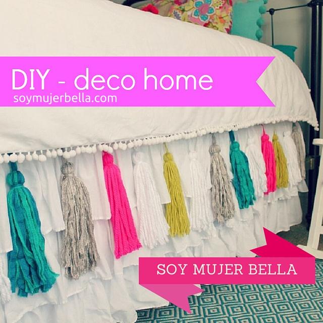 Cómo decorar la habitación con borlas