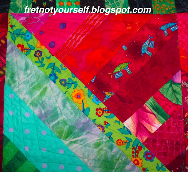 Point to point quilting with walking foot