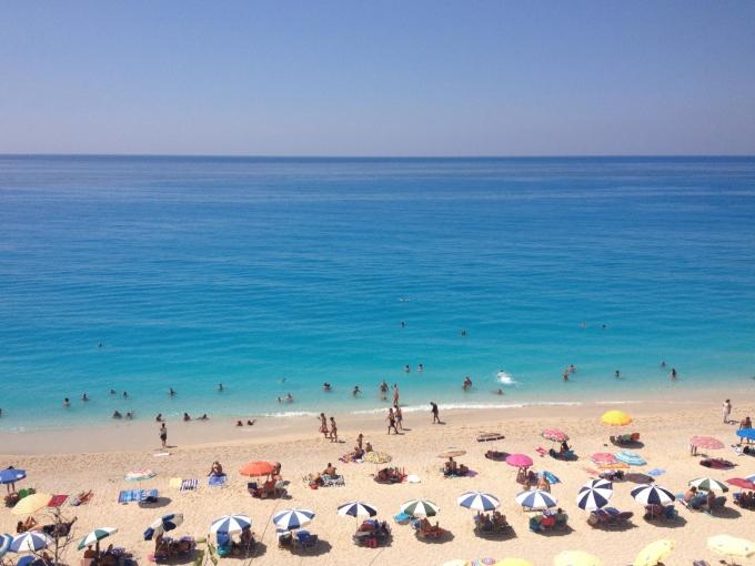 Egremni Beach, Lefkas / Kaunein ranta Kreikassa 2012