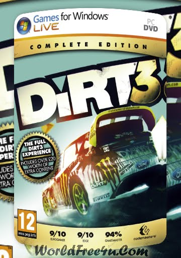 Cover Of Dirt 3 Complete Edition Full Latest Version PC Game Free Download Mediafire Links At worldfree4u.com