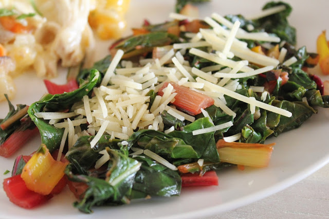 Simple Sauteed Rainbow Swiss Chard