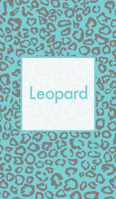 Leopard girly blue