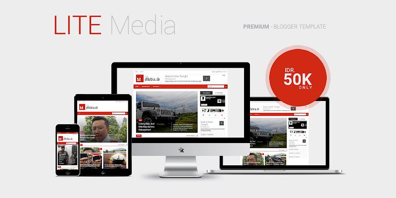 LITE Media - Premium Blogger Template