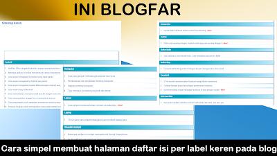 Cara membuat sitemap per label di blog