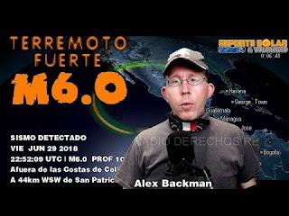 M6.0 Jalisco México . M3.7 Morelos. Los Animales Si Saben Cuando Va A Temblar- Alex backman.