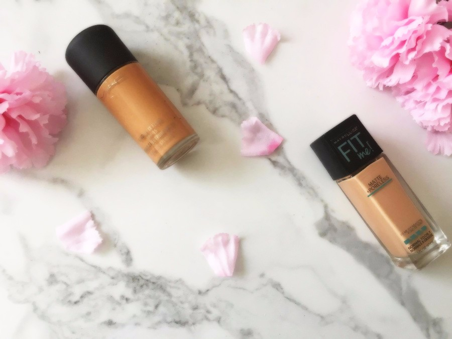 Product Showdown Studio Fix Fluid Foundation vs Maybelline Fit Me