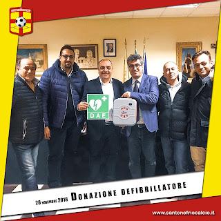 Donazione defibrillatore da parte del Presidente del Consiglio di Sant'Onofrio