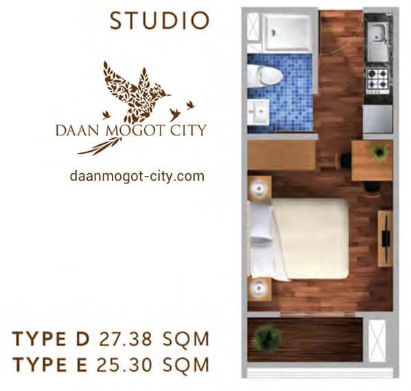 Apartemen DAMOCI Jakarta Tipe Studio