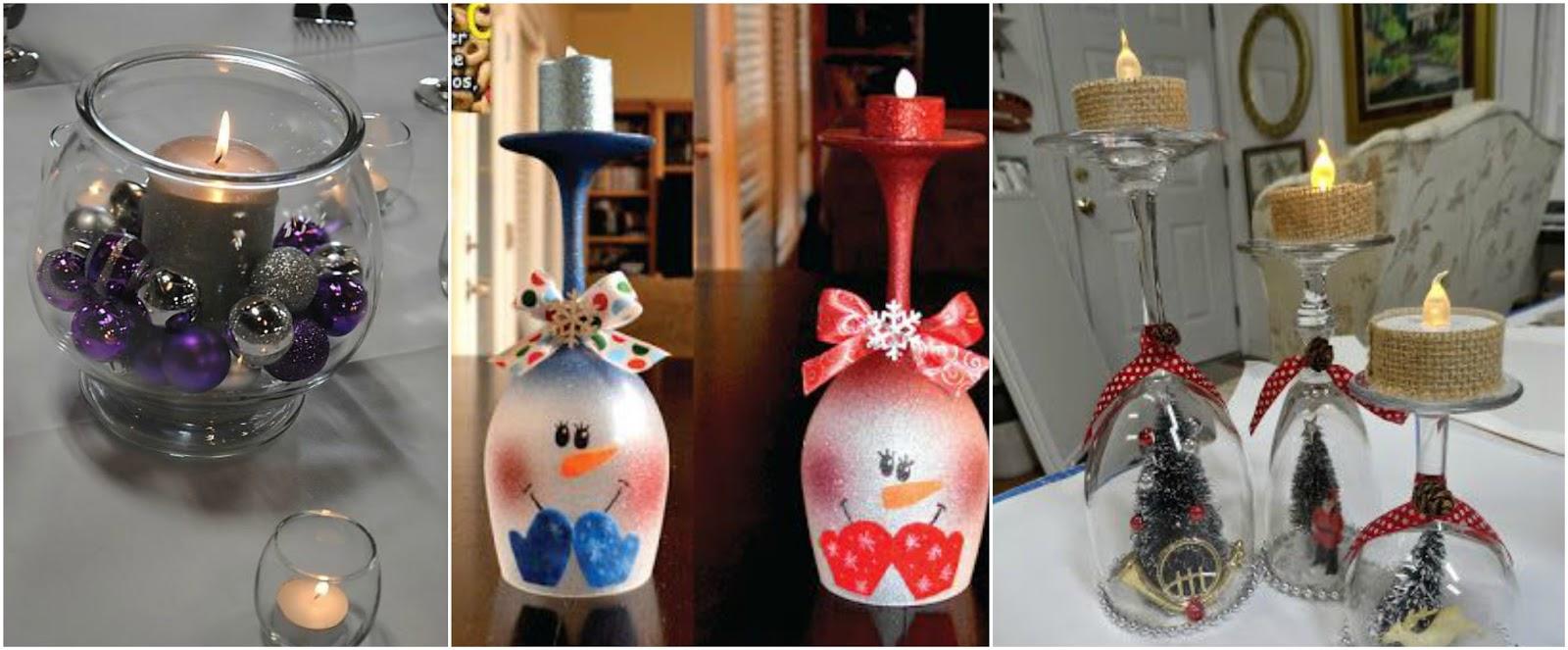 Aprende c mo hacer adornos navide os con copas de vidrio - Como hacer centros navidenos ...