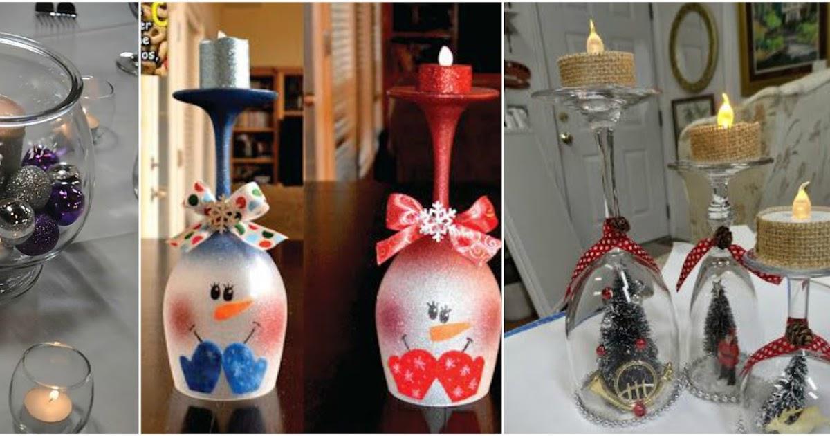 Aprende c mo hacer adornos navide os con copas de vidrio - Como hacer motivos navidenos ...