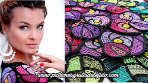 Hermosa Blusa Vitraux para tejer en crochet / Paso a paso
