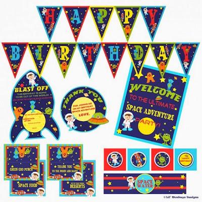Fiesta del Espacio: Kit para Imprimir Gratis.