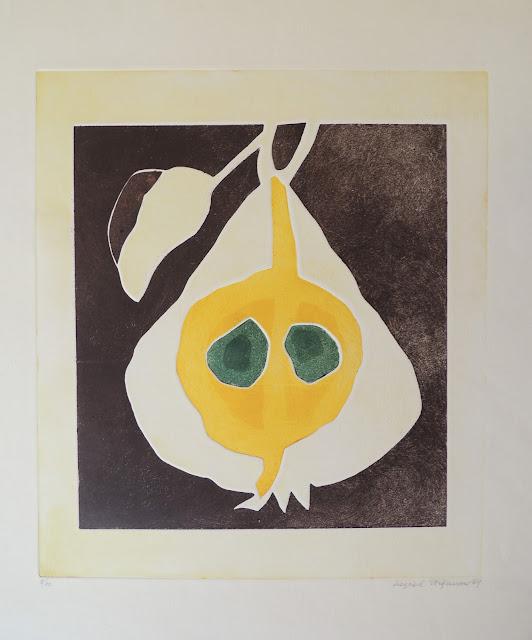 Siegrid Stefanow grabado frutas pera
