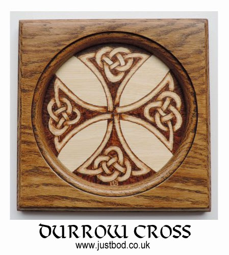 Hand burnt celtic knotwork design