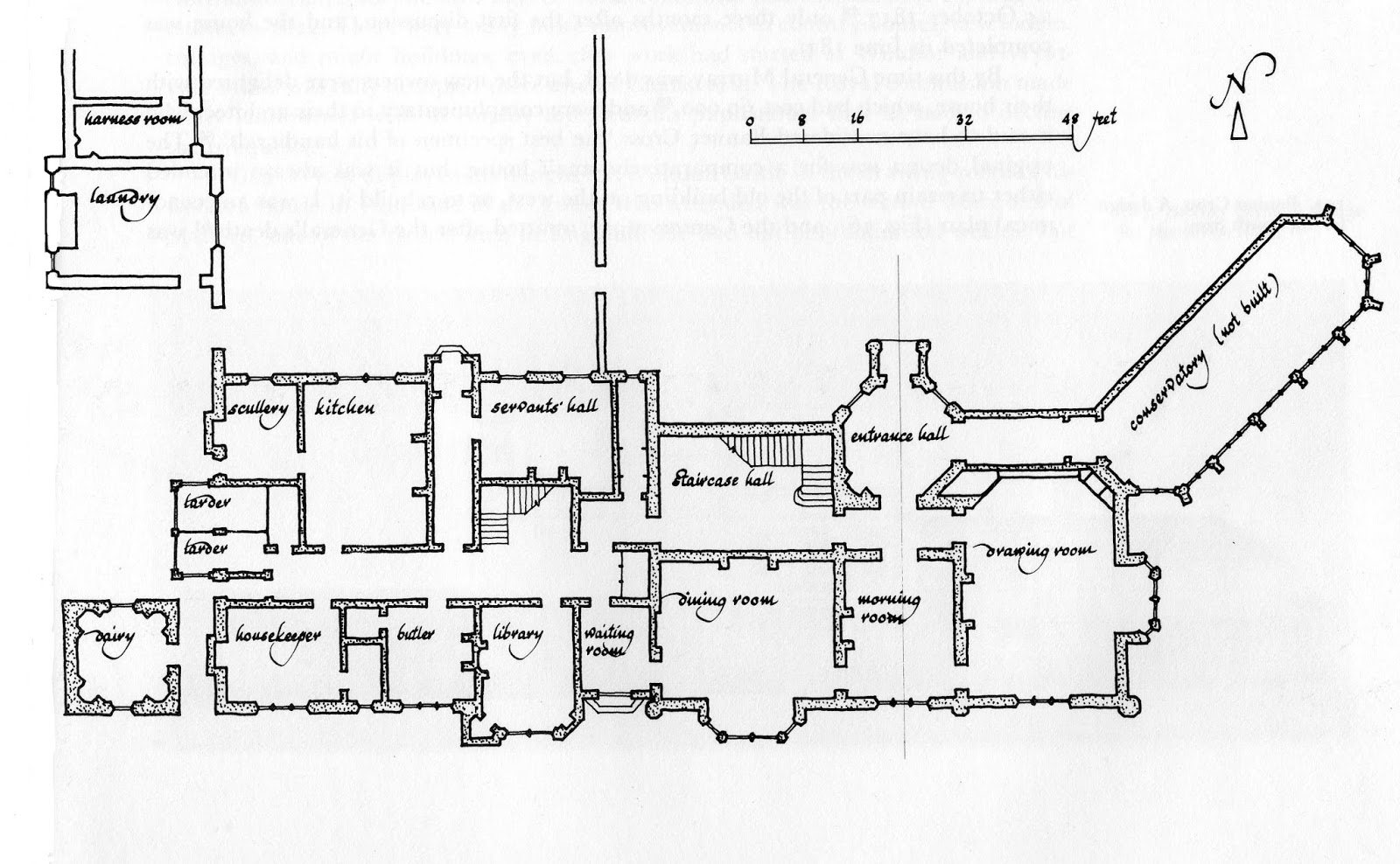 Landed Families Of Britain And Ireland December 2017 Starting Circuit Diagram For The 1952 53 Nash Statesman Banner Cross Hall Plan House As Rebuilt By Jeffry Wyatt In 1817 21 Main Block Later Service Wing After Linstrum 1972