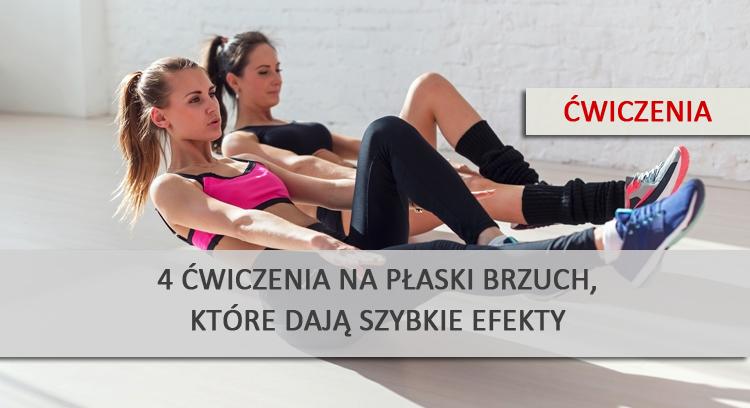 4 ćwiczenia na płaski brzuch, które dają szybkie efekty