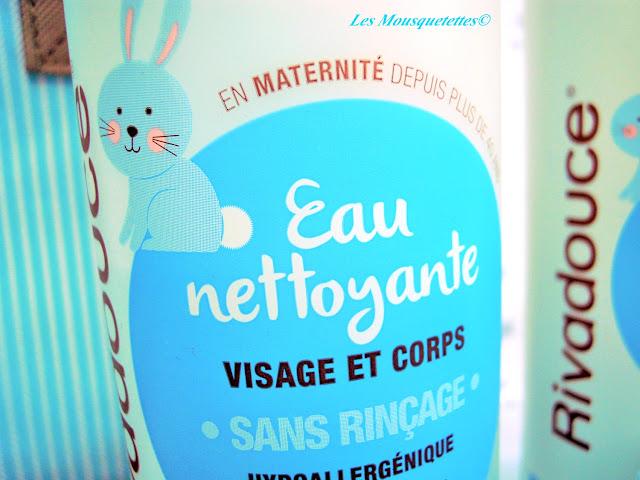 Eau Nettoyante - Rivadouce Bébé - Les Mousquetettes©