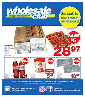 Wholesale Club Flyer February 8 – 28, 2018