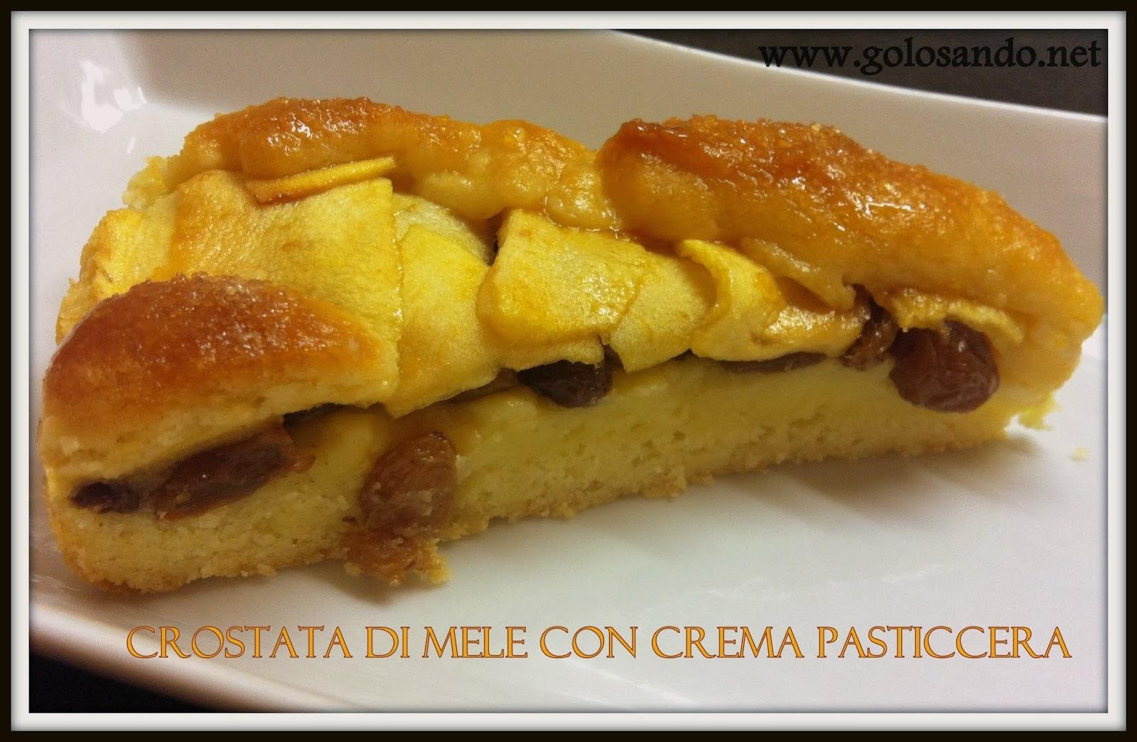 Golosando serenamente crostata di mele con crema for Crostata di mele