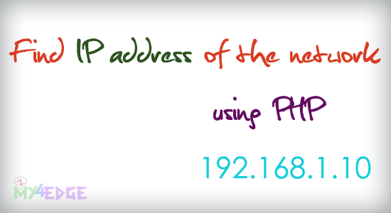 find ip address using php