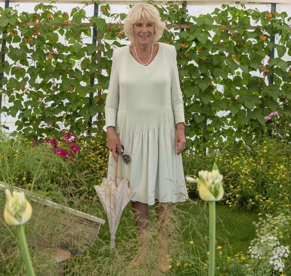 The Prince of Wales and the Duchess of Cornwall visited Sandringham Flower Show 2019 at Sandringham House