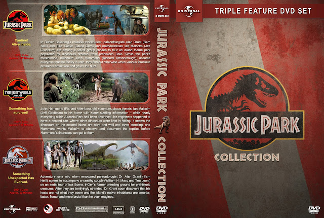 Jurassic Park Triple Feature DVD Cover