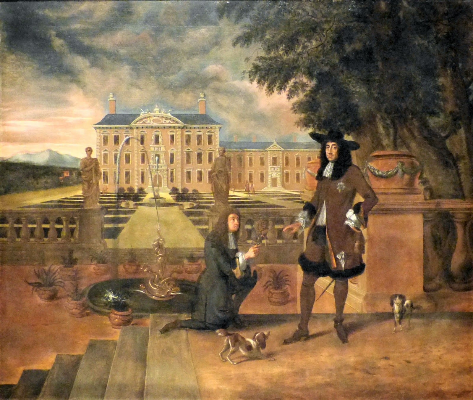 Charles II Presented with a Pineapple by British School (c1677)