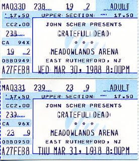 Grateful Dead, March 30 and 31, 1988