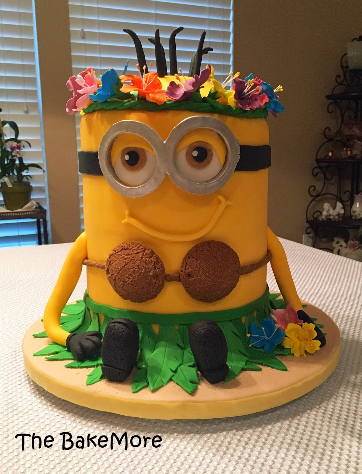 The Bake More Minion Hawaiian Hula Skirt Cake