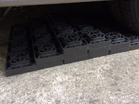 Camco Leveling Blocks attached