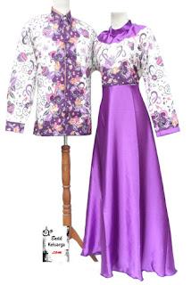 Contoh Gamis Batik Kombinasi Sifon