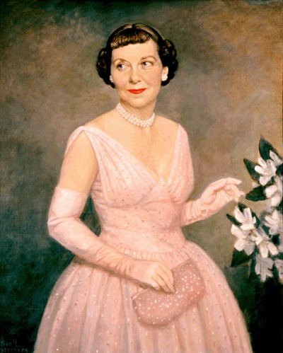 First Lady Mamie Eisenhower in Inaugural Gown