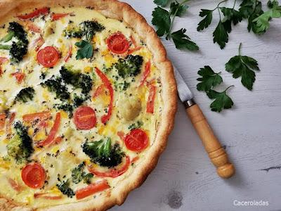 Quiche de verduras receta fácil y rápida