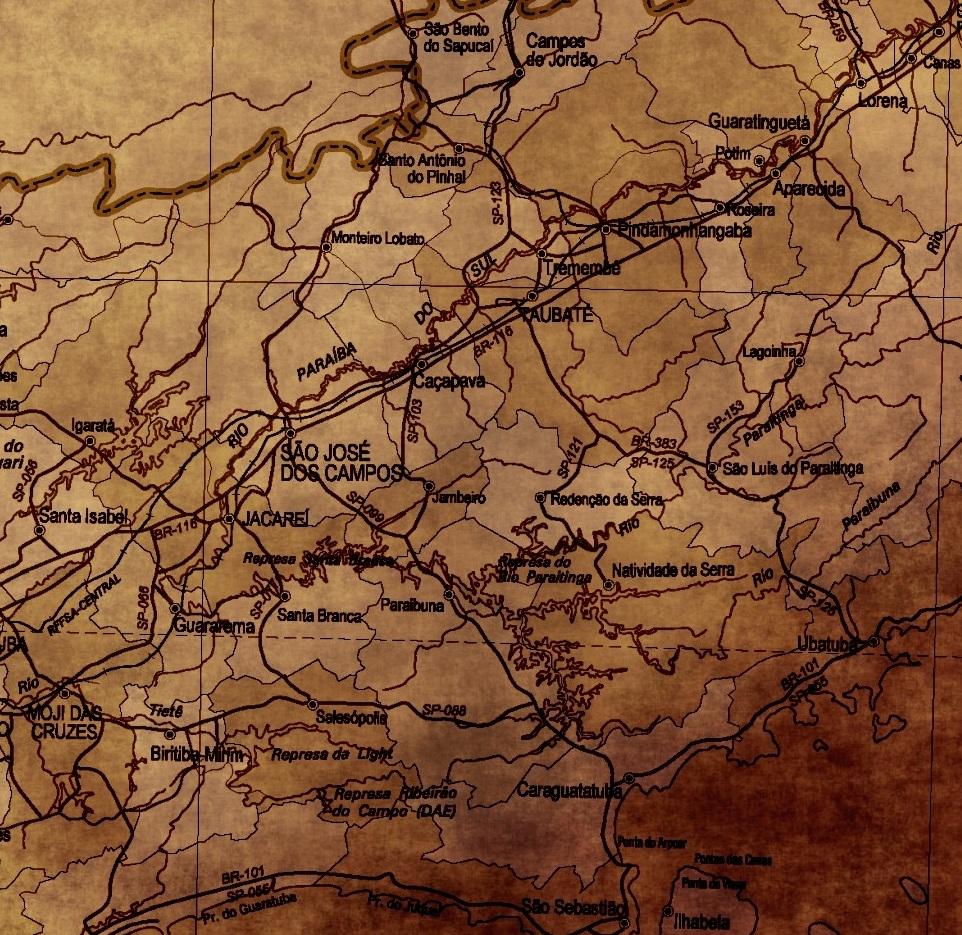 mapa de sao paulo estilo vintage decoracao