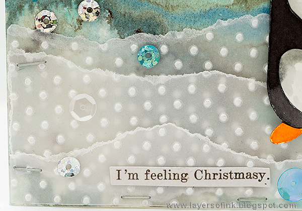 Layers of ink - Winter Penguin Card by Anna-Karin Evaldsson with Paper Artsy Infusions