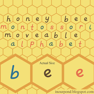FREE Bee Movable Alphabet + Spelling Cards