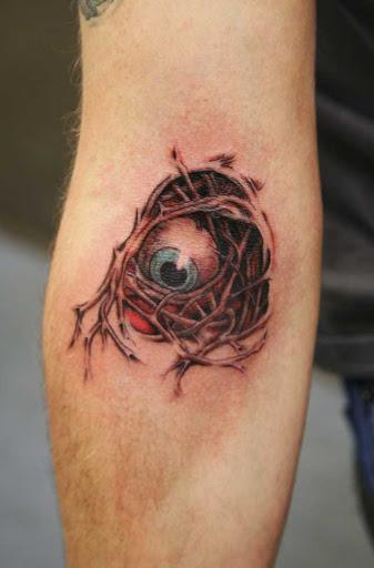 Este solo globo ocular, tripas em todos os
