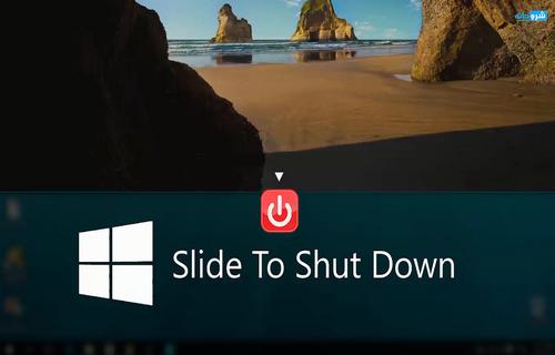 تفعيل ميزة الغلق بالإنزلاق فى ويندوز 8 1, 8 , Slide to shutdown in windows 10