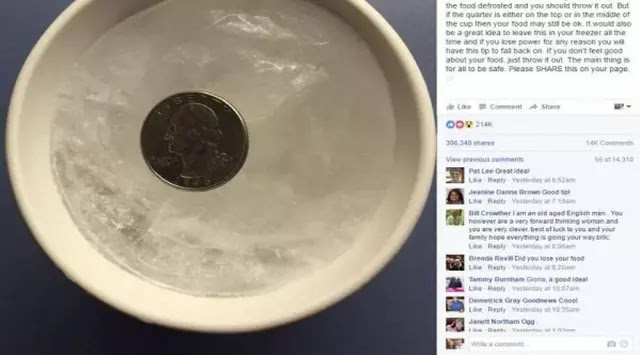Selalu Letakkan Koin Dalam Freezer ya Sebelum Keluar Rumah