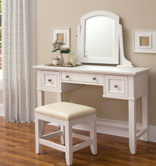 gambar meja rias modern minimalis ukuran kecil