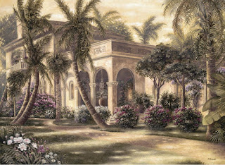 pinturas-grandes-casas-con-jardines cuadros-casas-jardines