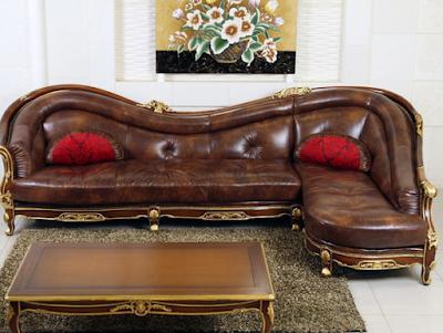 sofa kulit jepara