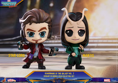 Marvel's Guardians of the Galaxy Vol. 2 Cosbaby Series 2 Mini Figures by Hot Toys - Star-Lord & Mantis