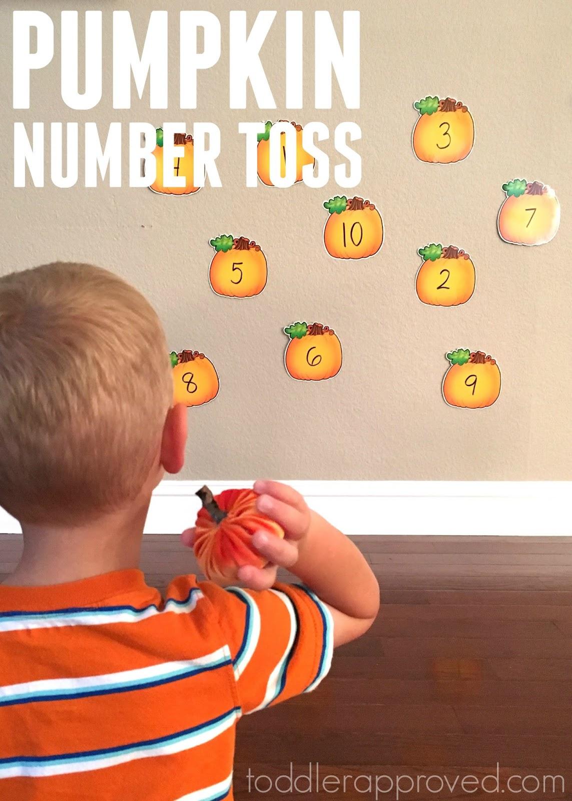 Toddler Approved Pumpkin Number Toss Game For Kids