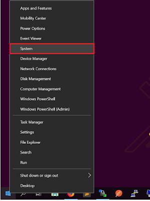 Klik System pada Windows Logo