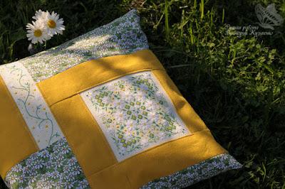 Ромашковая подушка